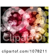 Clipart Purple Red And Yellow Bokeh Light Background Royalty Free Illustration