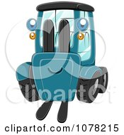 Clipart Blue Eyed Forklift Character Royalty Free Vector Illustration
