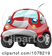 Clipart Blue Eyed Red Car Character Royalty Free Vector Illustration by BNP Design Studio