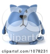 Clipart 3d Chubby Blue Cat Royalty Free CGI Illustration by Julos