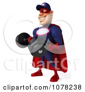 Clipart 3d Super Auto Mechanic Holding A Heavy Barbell Royalty Free CGI Illustration