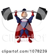 Clipart 3d Super Auto Mechanic Pushing A Heavy Barbell Up Royalty Free CGI Illustration