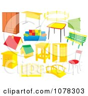 Clipart Set Of Furniture Royalty Free Vector Illustration by Alex Bannykh