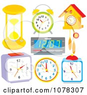Clipart Set Of Time Pieces Royalty Free Vector Illustration