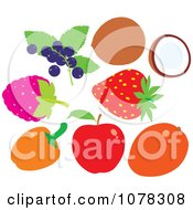 Clipart Berries And Fruit Royalty Free Vector Illustration