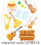 Clipart Set Of Musical Instruments Royalty Free Vector Illustration by Alex Bannykh