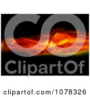 Clipart Fiery Waves On Black Royalty Free Vector Illustration by dero