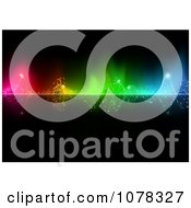 Clipart Colorful Water Splashing Through Lights Royalty Free Vector Illustration by dero