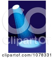 Clipart Stage Spotlight Shining Down Royalty Free Vector Illustration