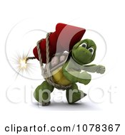 Clipart 3d Tortoise Strapped To A Fourth Of July Rocket Firework Royalty Free CGI Illustration by KJ Pargeter