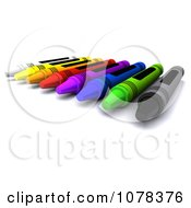 3d Colorful Crayons