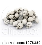 Clipart 3d Pile Of Human Skulls Royalty Free CGI Illustration by KJ Pargeter