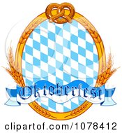 Clipart Wheat And Pretzel Oktoberfest Frame With Diamonds Royalty Free Vector Illustration