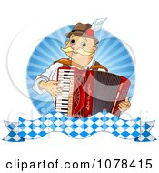 Clipart Happy Oktoberfest Man Playing An Accordion Royalty Free Vector Illustration