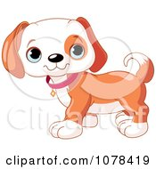 Clipart Cute Beagle Puppy Standing Royalty Free Vector Illustration