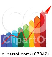 Clipart 3d Colorful Arrow Energy Use Chart With An Increase Arrow Royalty Free Vector Illustration