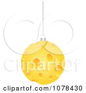 Clipart 3d Hanging Cheese Christmas Bauble Royalty Free Vector Illustration by Andrei Marincas