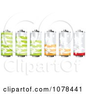 Clipart 3d Atlas Batteries At Different Charge Levels Royalty Free Vector Illustration