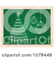 Clipart Christmas Baubles And A Christmas Tree On A Chalk Board Royalty Free Vector Illustration by Andrei Marincas