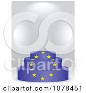 Clipart 3d European Flag Podium Royalty Free Vector Illustration by Andrei Marincas