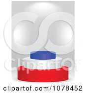 Clipart 3d French Flag Podium Royalty Free Vector Illustration by Andrei Marincas