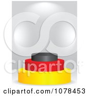 Clipart 3d German Flag Podium Royalty Free Vector Illustration by Andrei Marincas
