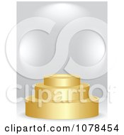 Clipart 3d Golden Podium Royalty Free Vector Illustration
