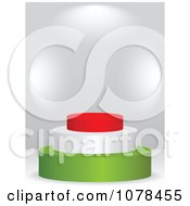 Clipart 3d Hungarian Flag Podium Royalty Free Vector Illustration by Andrei Marincas