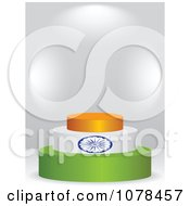 Clipart 3d Indian Flag Podium Royalty Free Vector Illustration by Andrei Marincas