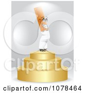 Clipart 3d Cigarette On A First Place Podium Royalty Free Vector Illustration