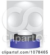 Clipart 3d Estonian Flag Podium Royalty Free Vector Illustration
