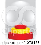Clipart 3d Spanish Flag Podium Royalty Free Vector Illustration