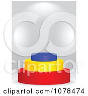 Clipart 3d Romanian Flag Podium Royalty Free Vector Illustration