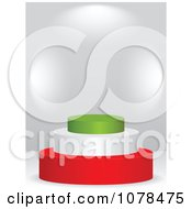 Clipart 3d Italian Flag Podium Royalty Free Vector Illustration