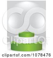 Clipart 3d Nigerian Flag Podium Royalty Free Vector Illustration