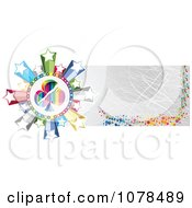Clipart Scratched Gold Casino Website Banner With A Club And Stars Royalty Free Vector Illustration