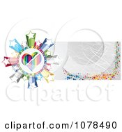 Clipart Scratched Gold Casino Website Banner With A Heart And Stars Royalty Free Vector Illustration