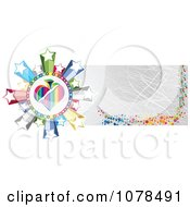 Clipart Scratched Gold Casino Website Banner With A Spade And Stars Royalty Free Vector Illustration