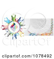 Clipart Scratched Gold Casino Website Banner With A Diamond And Stars Royalty Free Vector Illustration