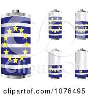 Clipart 3d Belgian Flag Batteries At Different Charge Levels Royalty Free Vector Illustration by Andrei Marincas