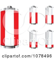Clipart 3d Austrian Flag Batteries At Different Charge Levels Royalty Free Vector Illustration by Andrei Marincas