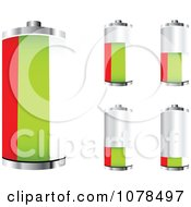 Clipart 3d Bulgarian Flag Batteries At Different Charge Levels Royalty Free Vector Illustration by Andrei Marincas