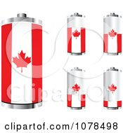 Clipart 3d Canadian Flag Batteries At Different Charge Levels Royalty Free Vector Illustration by Andrei Marincas