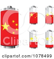Clipart 3d Chinese Flag Batteries At Different Charge Levels Royalty Free Vector Illustration by Andrei Marincas