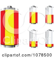 Clipart 3d Spanish Flag Batteries At Different Charge Levels Royalty Free Vector Illustration by Andrei Marincas