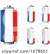 Clipart 3d French Flag Batteries At Different Charge Levels Royalty Free Vector Illustration by Andrei Marincas