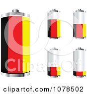 Clipart 3d German Flag Batteries At Different Charge Levels Royalty Free Vector Illustration by Andrei Marincas