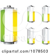 Clipart 3d Ireland Flag Batteries At Different Charge Levels Royalty Free Vector Illustration by Andrei Marincas