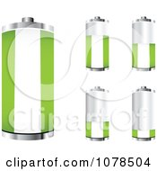 Clipart 3d Nigerian Flag Batteries At Different Charge Levels Royalty Free Vector Illustration