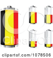 Clipart 3d Belgian Flag Batteries At Different Charge Levels Royalty Free Vector Illustration